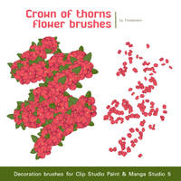 Free Crown of thorns flower Brushes by Firodendon