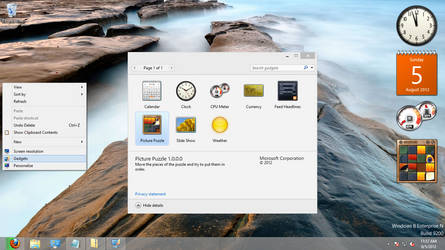Windows Sidebar for Windows 8 RTM by scritperkid2