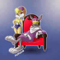 Bugs and Lola Bunny by nekroworld-AgL
