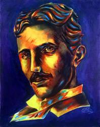 Nikola Tesla by nthomas-illustration