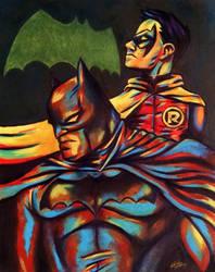 Batman and Robin by nthomas-illustration