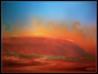 Uluru Australia by Nameda