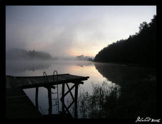 The Lake and fog by Galahard
