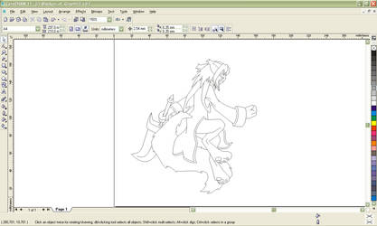 Lineart process - vector by DragonLeeX3