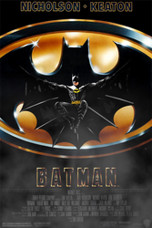Redesigned 1989 Batman Movie Poster by batmannotes