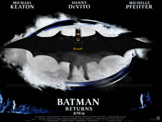 Redesigned Batman Returns Movie Poster by batmannotes