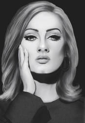 Adele painting by TRAVELLINGTHEC0SM0S