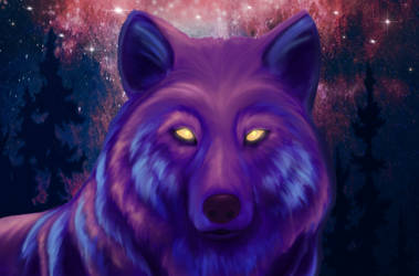 Space Wolf by TRAVELLINGTHEC0SM0S