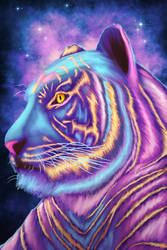 Space Tiger by TRAVELLINGTHEC0SM0S