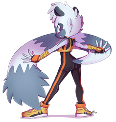 Tangle the Lemur by Mitzy-Chan