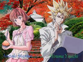 Hiruma_and_Mamori by ravealie