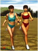 Synchronized Running by Buaya-kun