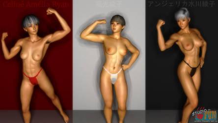 Muscular Beauties by Buaya-kun