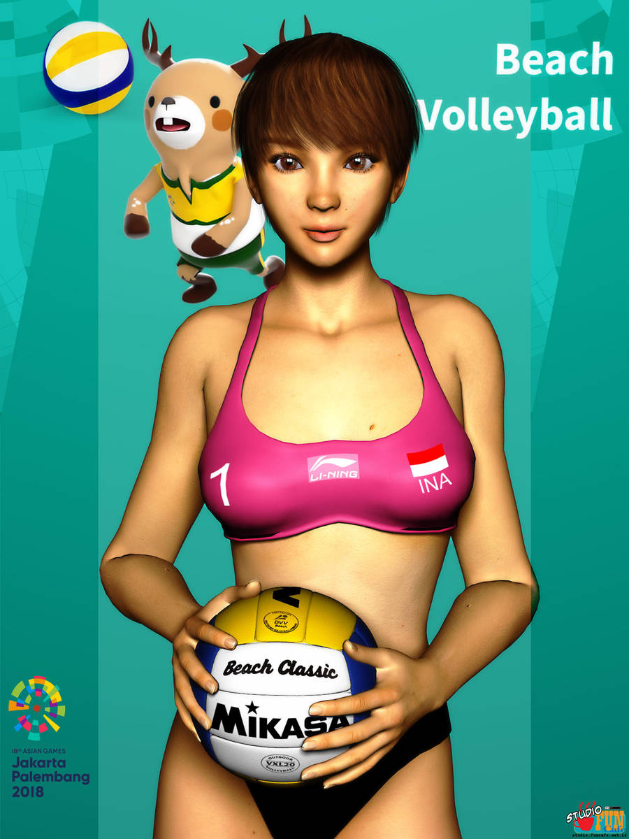 Asian Games 2018: Beach Volleyball by Buaya-kun