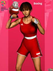Asian Games 2018: Boxing by Buaya-kun