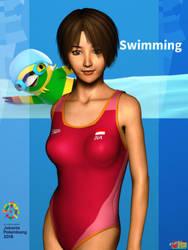 Asian Games 2018: Swimming by Buaya-kun