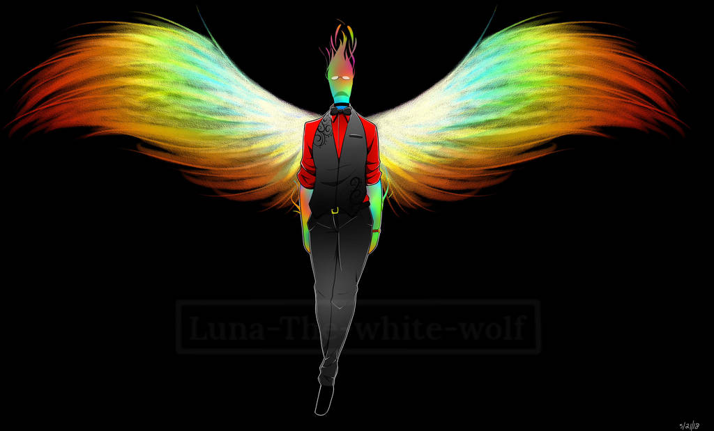 Rainbow Wings By Luna The White Wolf On Deviantart