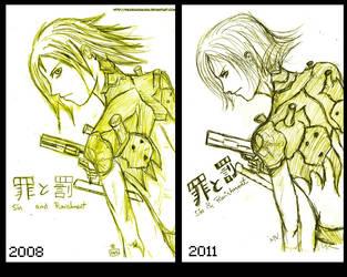 sketch-saki-ruffian-redone by hikaruasakura