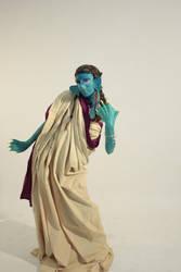 Fish-Human hybrid FX Makeup by LaLaLeensy