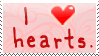 I Heart Hearts Stamp by bizarrostamps