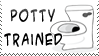 Potty Trained Stamp by bizarrostamps