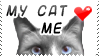My Cat Loves Me Stamp by bizarrostamps