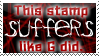 Suffer Like G Did Stamp by bizarrostamps