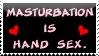 Masturbation Is Hand Sex Stamp by bizarrostamps