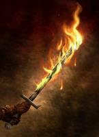 Fire Blade by bradlyvancamp