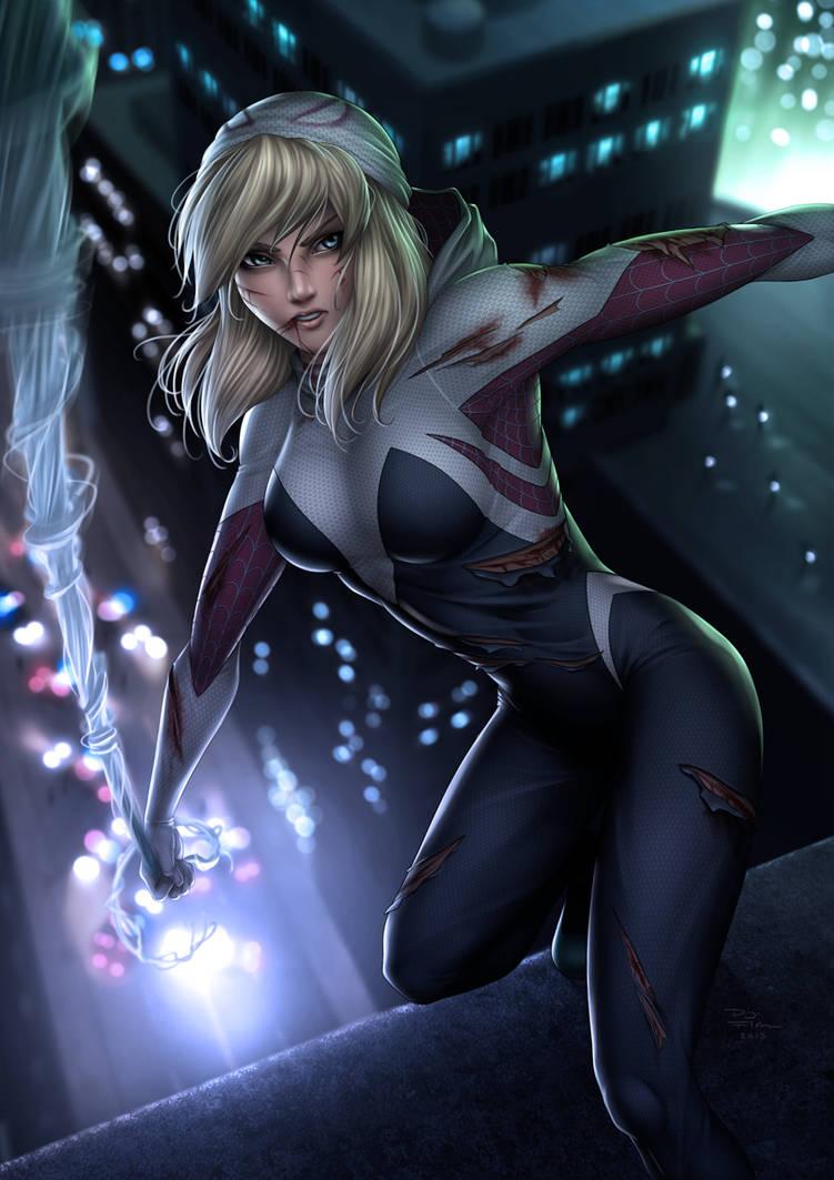 Rough Day (Spider-Gwen) by DigiFlohw