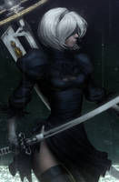 2B [Salvation] (NieR: Automata) by DigiFlohw
