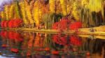 Feofania Park autumn in old Kiev by exobiology