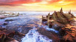 Lonas planet evening sea by exobiology