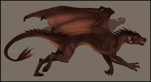 Norwegian Dragon : Sketch by FeysCat