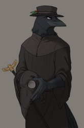 Doctor in the plague by FeysCat