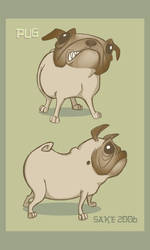 pug-cartoon by AmySake