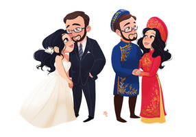 Commission - Mini Couple - Wedding by fydraws