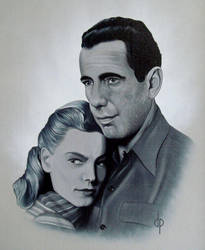 Bogart and Bacall by DwaynePinkney