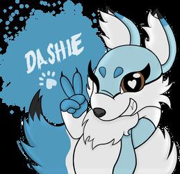 Dashie The Blue Fox ( Gift ) by MaryAnna16