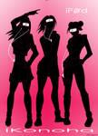 Girls from Konoha - iPod Style by sihaya10