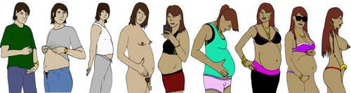 Pregnant TG by minnman20