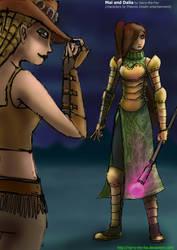 Mai and Dalia Concept by Harry-the-Fox