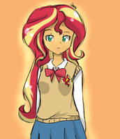 Sunset Shimmer - School Uniform by lilimani8