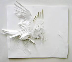 Low-Relief Bird by weremagnus