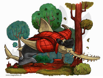 Stanley Sawfish by weremagnus