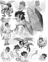 Gasatsu Sketchpage by weremagnus