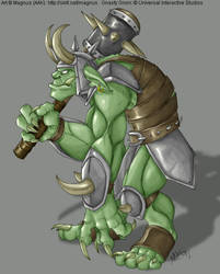 One Gnasty Gnorc by weremagnus