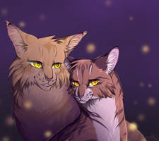 Mothwing and Leafpool by SsilverBeeze