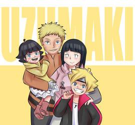 Uzumaki Family Photo by MintAnnComics