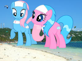 Spa Ponies at the Beach by TheOtterPony